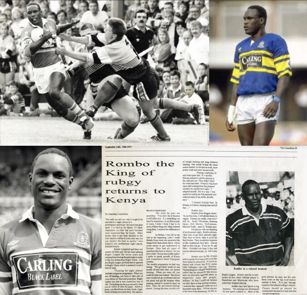 A montage of old photos of Edward Rombo during his playing days back in the nineties.