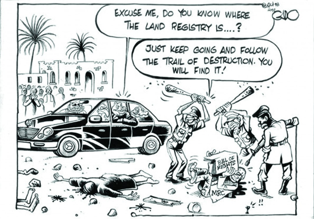 It is despots and dictators that hate political cartoonists