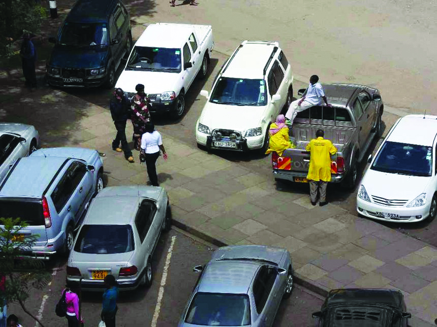 Nairobi's parking boys who say they work for top city officials
