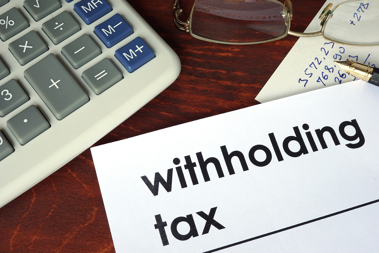 Crystallisation of withholding tax liability
